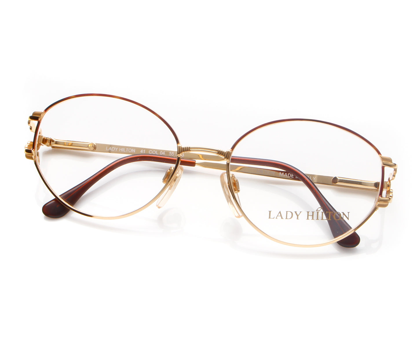 Vintage Hilton Lady Hilton 41 04 22 KGP Thumb, Hilton , glasses frames, eyeglasses online, eyeglass frames, mens glasses, womens glasses, buy glasses online, designer eyeglasses, vintage sunglasses, retro sunglasses, vintage glasses, sunglass, eyeglass, glasses, lens, vintage frames company, vf