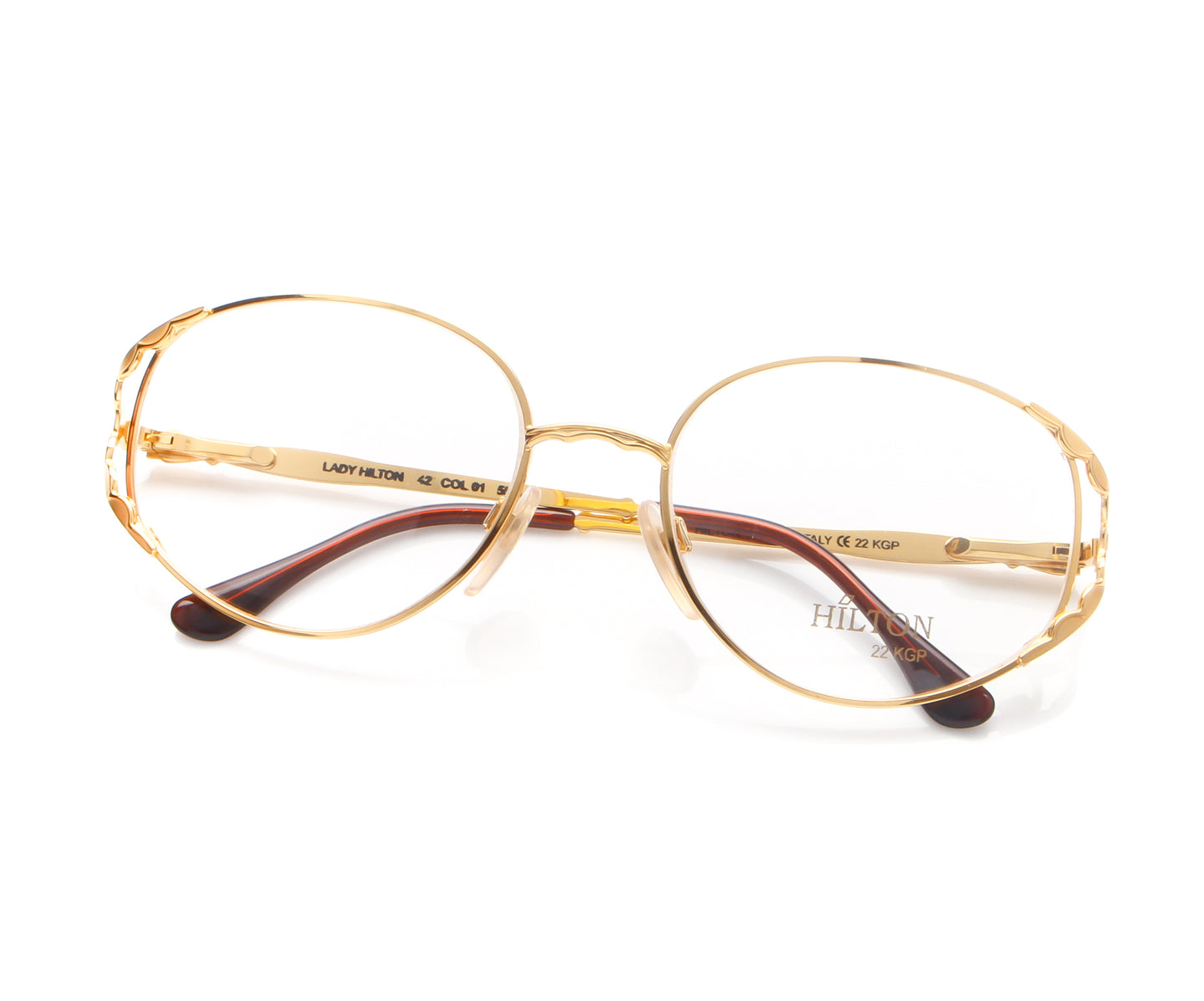 Vintage Hilton Lady Hilton 42 01 22 KGP Thumb, Hilton , glasses frames, eyeglasses online, eyeglass frames, mens glasses, womens glasses, buy glasses online, designer eyeglasses, vintage sunglasses, retro sunglasses, vintage glasses, sunglass, eyeglass, glasses, lens, vintage frames company, vf