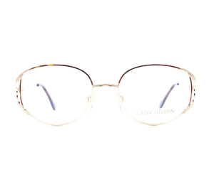 Vintage Hilton Lady Hilton 42 04 22 KGP Front, Hilton, glasses frames, eyeglasses online, eyeglass frames, mens glasses, womens glasses, buy glasses online, designer eyeglasses, vintage sunglasses, retro sunglasses, vintage glasses, sunglass, eyeglass, glasses, lens, vintage frames company, vf