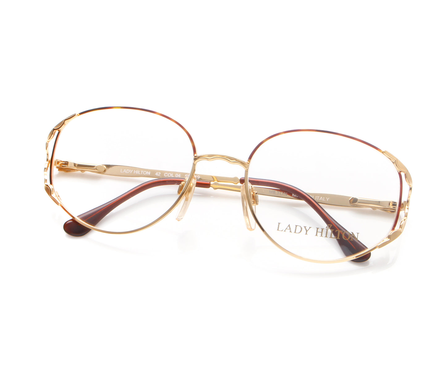Vintage Hilton Lady Hilton 42 04 22 KGP Thumb, Hilton , glasses frames, eyeglasses online, eyeglass frames, mens glasses, womens glasses, buy glasses online, designer eyeglasses, vintage sunglasses, retro sunglasses, vintage glasses, sunglass, eyeglass, glasses, lens, vintage frames company, vf