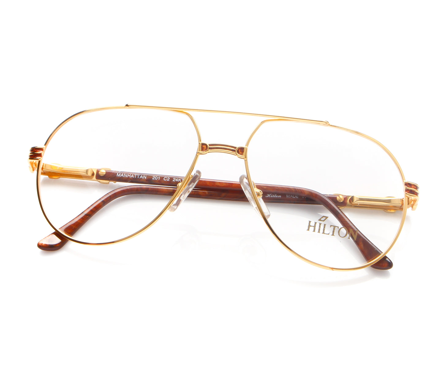 Vintage Hilton Manhattan 201 C2 24KT Thumb, Hilton , glasses frames, eyeglasses online, eyeglass frames, mens glasses, womens glasses, buy glasses online, designer eyeglasses, vintage sunglasses, retro sunglasses, vintage glasses, sunglass, eyeglass, glasses, lens, vintage frames company, vf