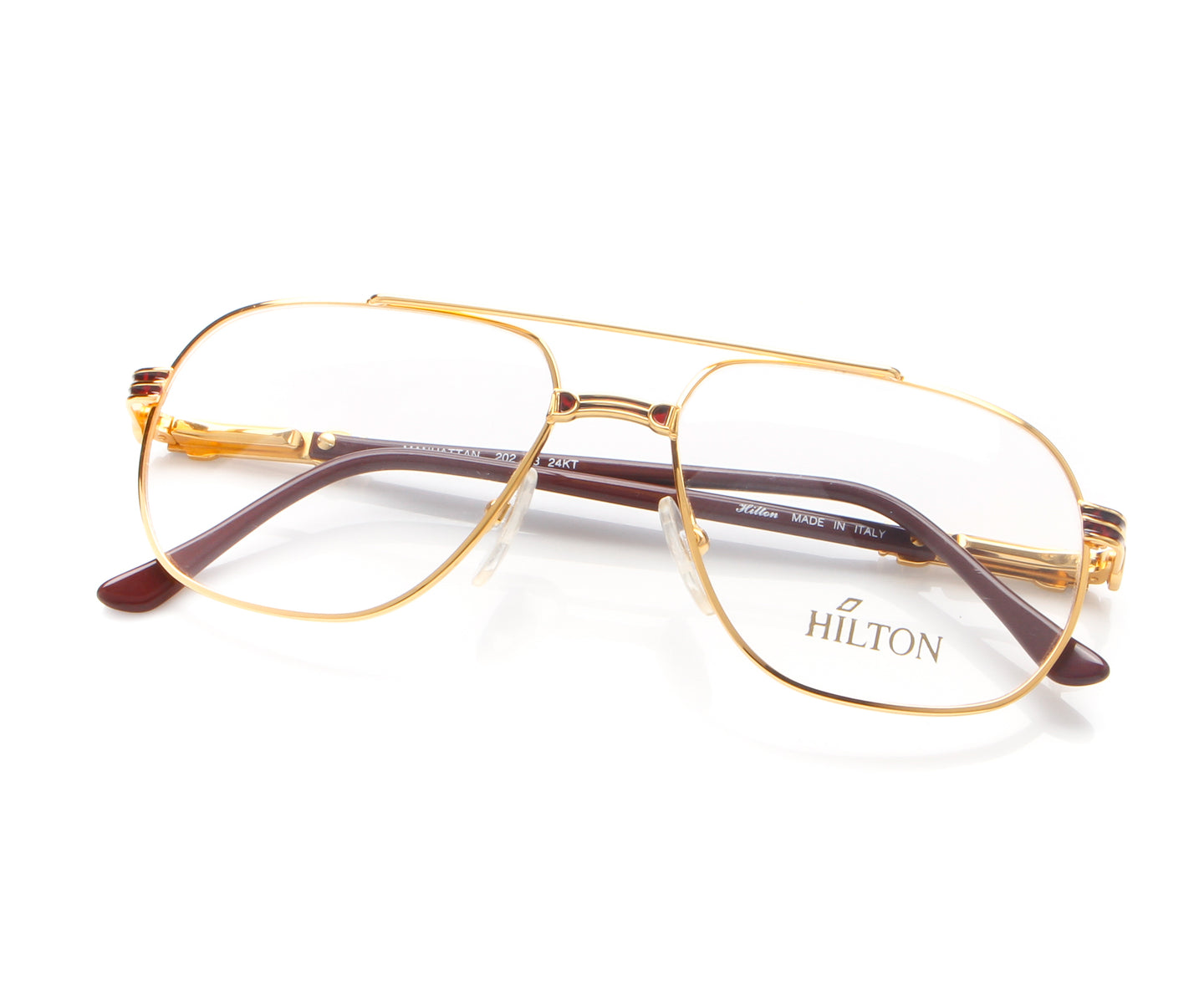 Vintage Hilton Manhattan 202 C3 24KT Thumb, Hilton , glasses frames, eyeglasses online, eyeglass frames, mens glasses, womens glasses, buy glasses online, designer eyeglasses, vintage sunglasses, retro sunglasses, vintage glasses, sunglass, eyeglass, glasses, lens, vintage frames company, vf