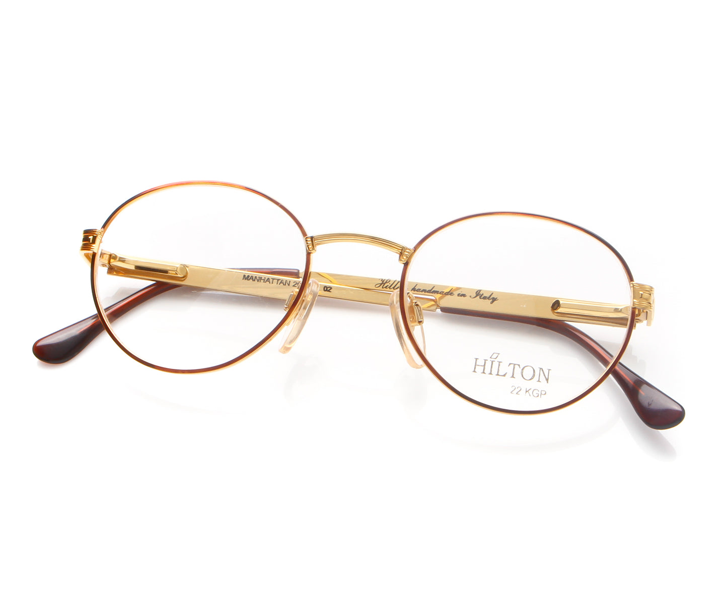 Vintage Hilton Manhattan 205 02 Thumb, Hilton , glasses frames, eyeglasses online, eyeglass frames, mens glasses, womens glasses, buy glasses online, designer eyeglasses, vintage sunglasses, retro sunglasses, vintage glasses, sunglass, eyeglass, glasses, lens, vintage frames company, vf