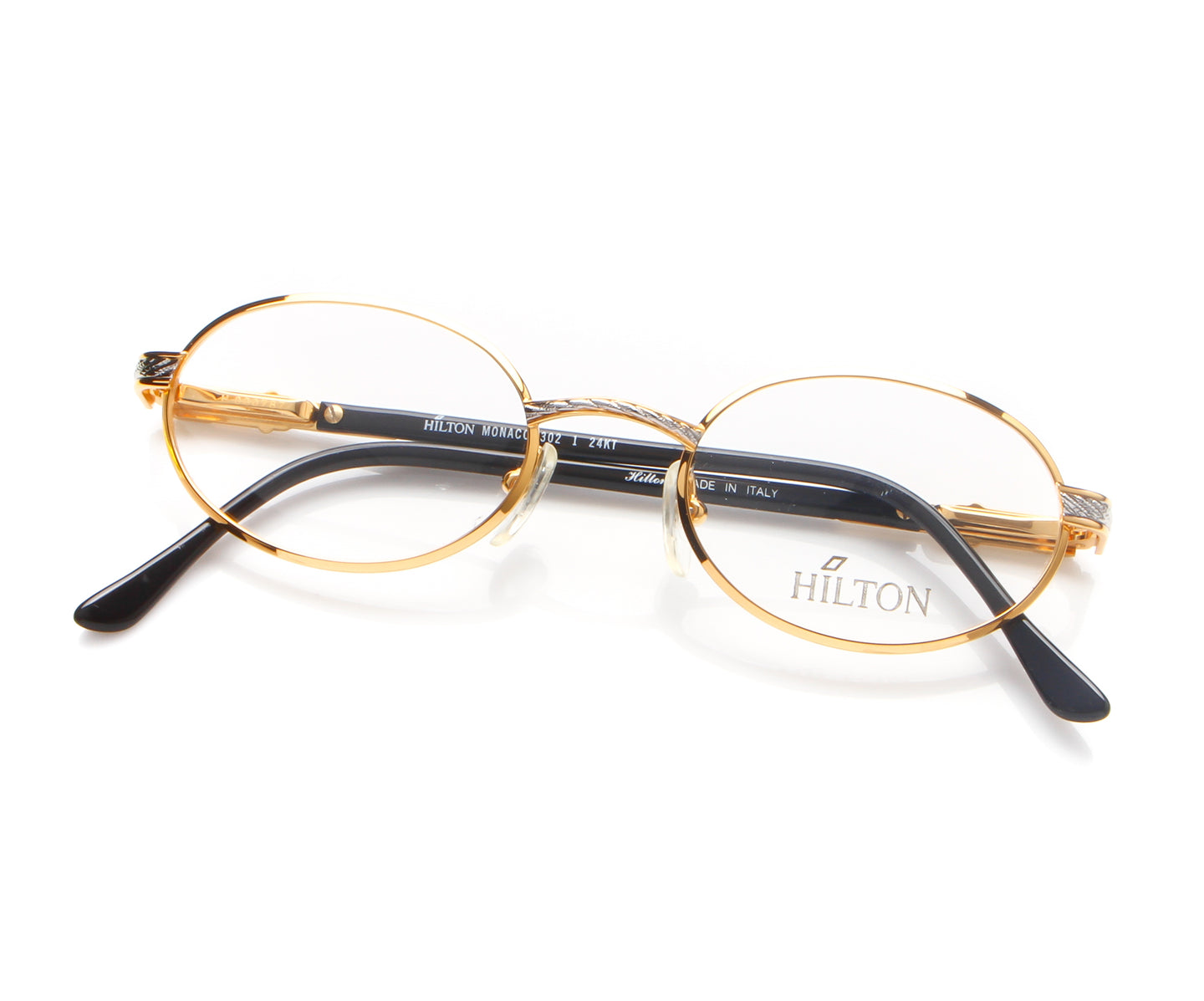 Vintage Hilton Monaco 302 1 24KT Thumbnail, Hilton , glasses frames, eyeglasses online, eyeglass frames, mens glasses, womens glasses, buy glasses online, designer eyeglasses, vintage sunglasses, retro sunglasses, vintage glasses, sunglass, eyeglass, glasses, lens, vintage frames company, vf