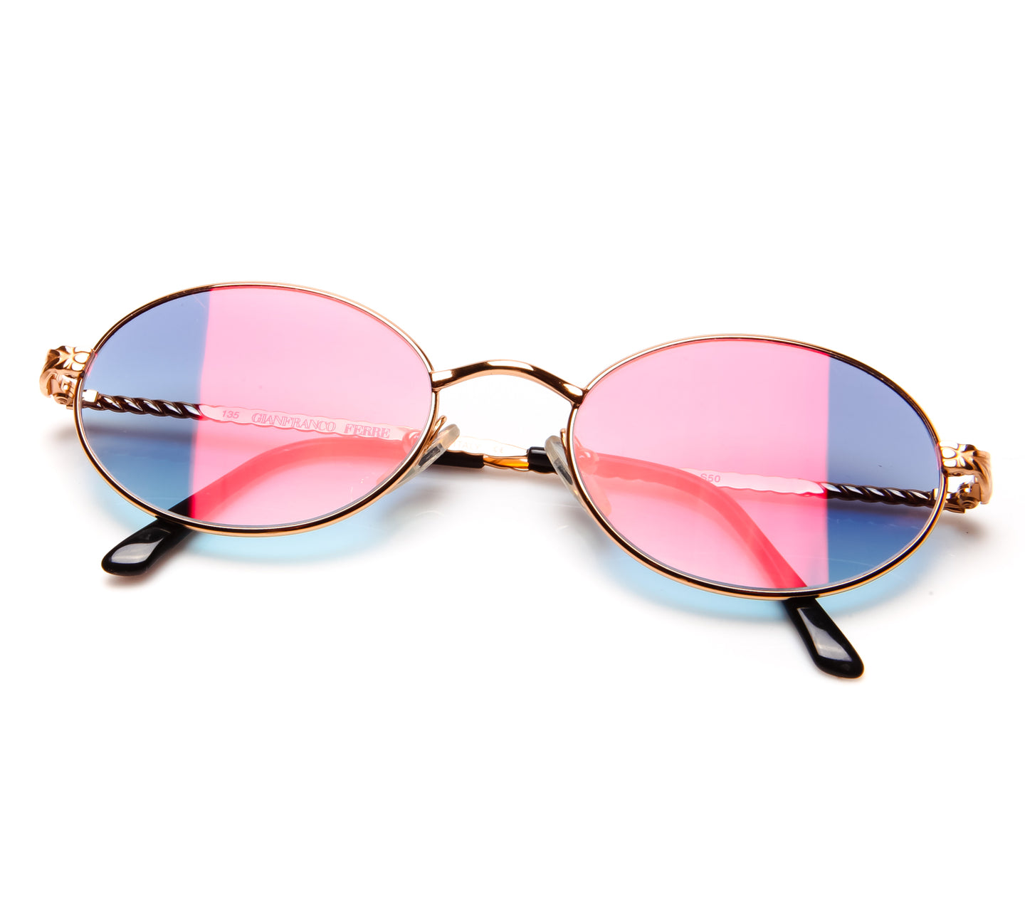 GianFranco Ferre 238 (Mauve Two-Tone Gradient Multi Flash Flat Lens)