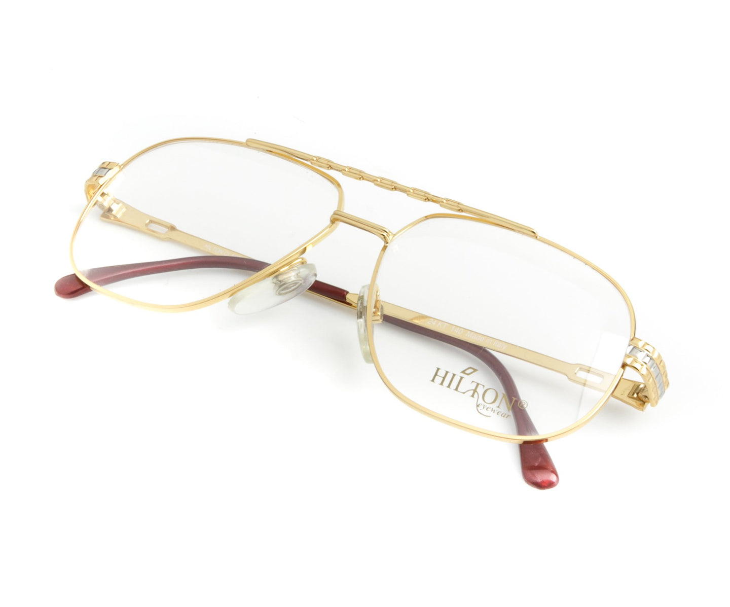 Vintage Hilton Class 703 1 24KT Thumb, Hilton , glasses frames, eyeglasses online, eyeglass frames, mens glasses, womens glasses, buy glasses online, designer eyeglasses, vintage sunglasses, retro sunglasses, vintage glasses, sunglass, eyeglass, glasses, lens, vintage frames company, vf