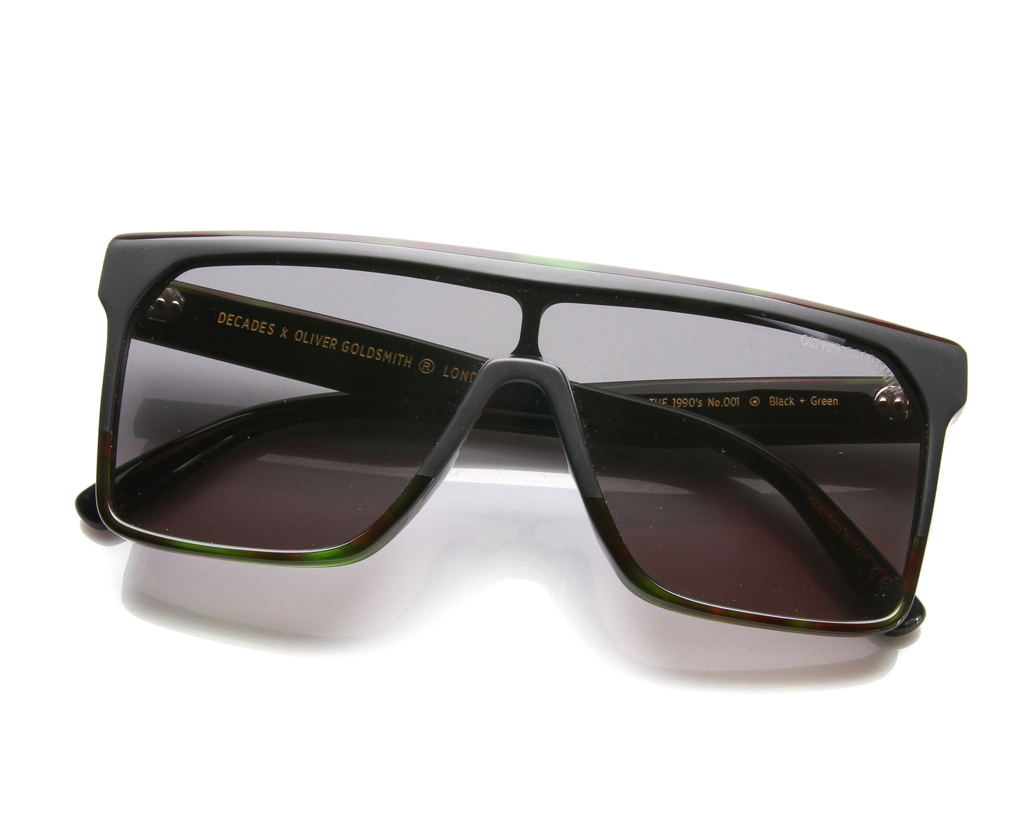 Oliver Goldsmith 1990's 001 1 (Black / Green), oliver Goldsmith , glasses frames, eyeglasses online, eyeglass frames, mens glasses, womens glasses, buy glasses online, designer eyeglasses, vintage sunglasses, retro sunglasses, vintage glasses, sunglass, eyeglass, glasses, lens, vintage frames company, vf