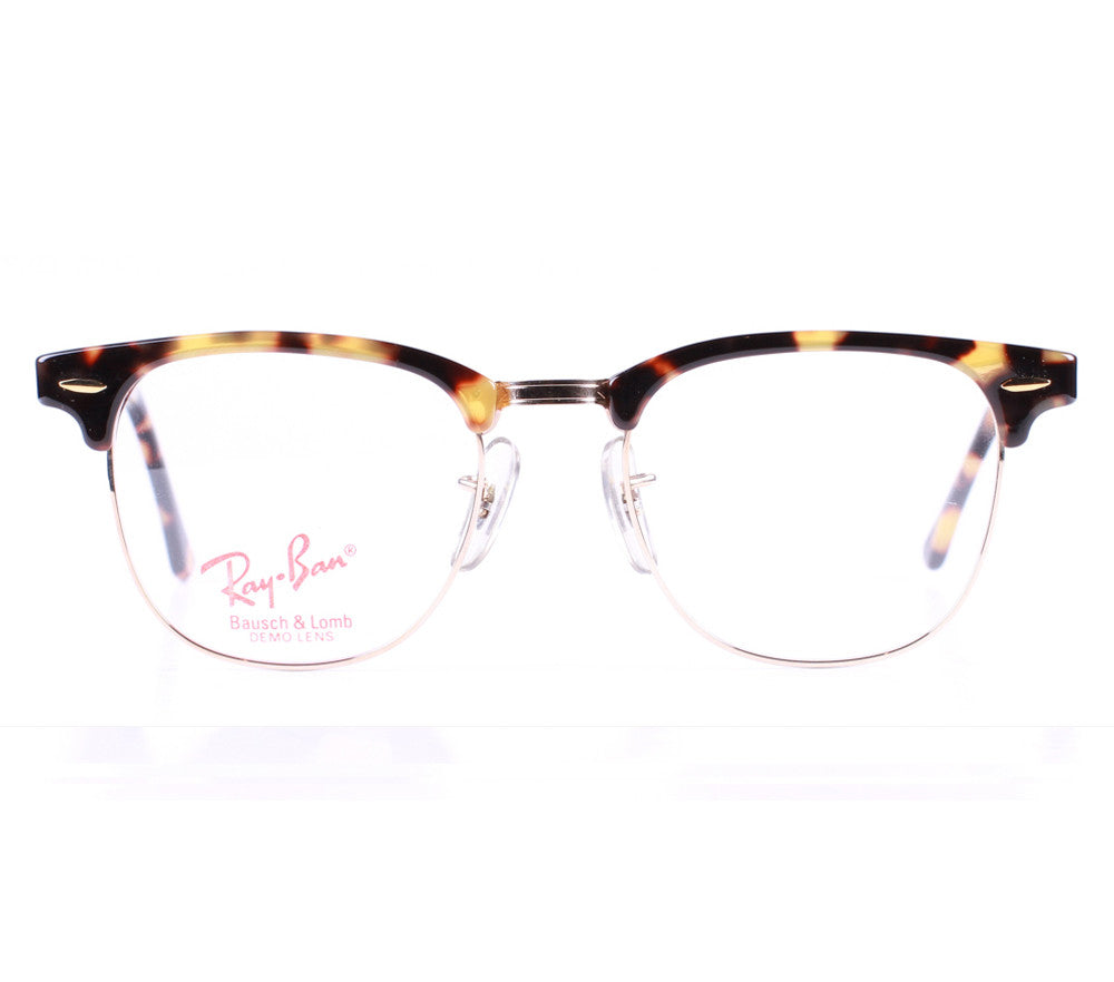 Ray-Ban Clubmaster II Front, Ray-Ban , glasses frames, eyeglasses online, eyeglass frames, mens glasses, womens glasses, buy glasses online, designer eyeglasses, vintage sunglasses, retro sunglasses, vintage glasses, sunglass, eyeglass, glasses, lens, vintage frames company, vf