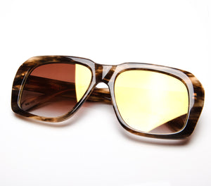Ultra Goliath C18 Brown Gradient Flash Gold Flat Lens