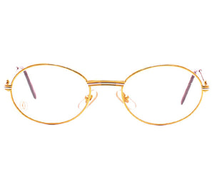 Cartier Saint Honore Gold Clear Lens, Cartier, glasses frames, eyeglasses online, eyeglass frames, mens glasses, womens glasses, buy glasses online, designer eyeglasses, vintage sunglasses, retro sunglasses, vintage glasses, sunglass, eyeglass, glasses, lens, vintage frames company, vf