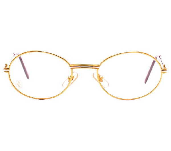 Cartier Saint Honore Gold Clear Lens, Cartier , glasses frames, eyeglasses online, eyeglass frames, mens glasses, womens glasses, buy glasses online, designer eyeglasses, vintage sunglasses, retro sunglasses, vintage glasses, sunglass, eyeglass, glasses, lens, vintage frames company, vf