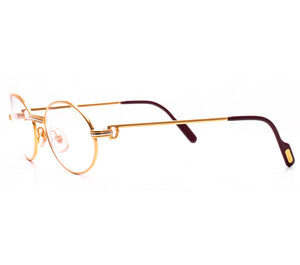Cartier Saint Honore Gold Clear Lens Side