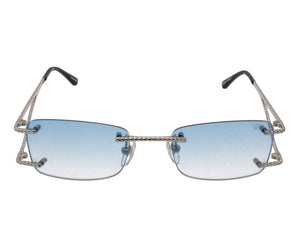 VF Wall Street Drill Mount 24KT White Gold (Pastel Blue), VF Drill Mount, glasses frames, eyeglasses online, eyeglass frames, mens glasses, womens glasses, buy glasses online, designer eyeglasses, vintage sunglasses, retro sunglasses, vintage glasses, sunglass, eyeglass, glasses, lens, vintage frames company, vf