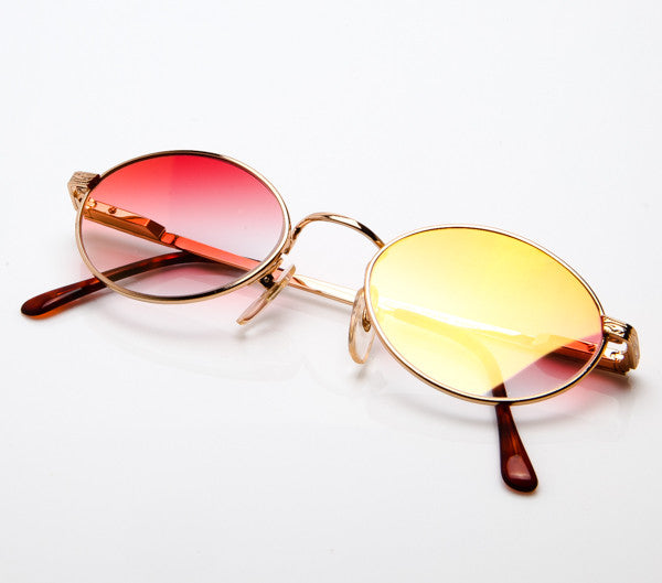 VF by Vintage Frames The Firm (Flash Gold Red Gradient Flat Lens ...