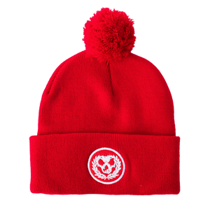 Killswitch Engage Vault | Red Skull Pom Beanie