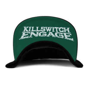 Killswitch Engage Vault | Skull Wreath Snapback Hat - Black/White