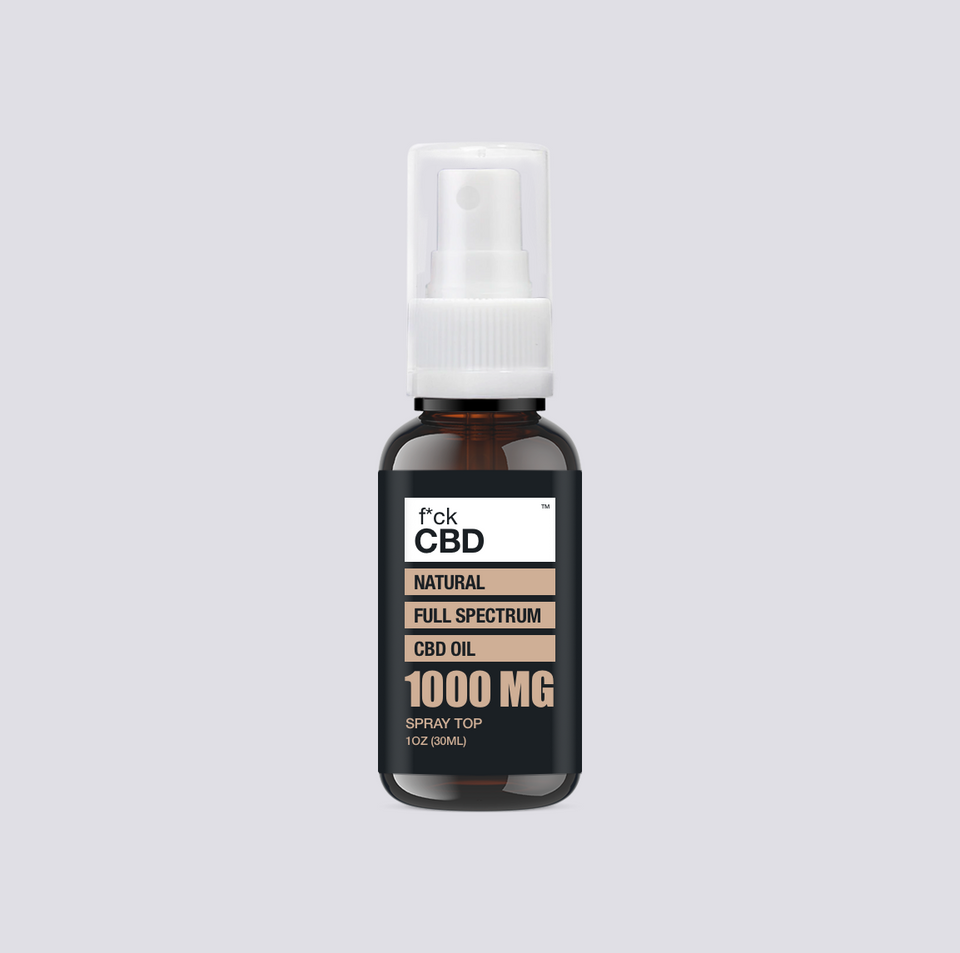 Fuck CBD 1000MG Natural Full Spectrum Oil Spray