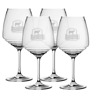 Stemmed Crystal Wine Glasses