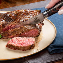 Load image into Gallery viewer, Pakka Wood Steak Knives
