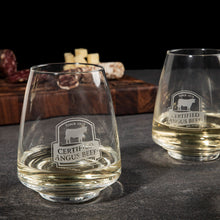 Load image into Gallery viewer, Stemless Crystal Wine Glasses