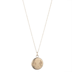 Vintage 14k Gold Petite Round Engraved Locket