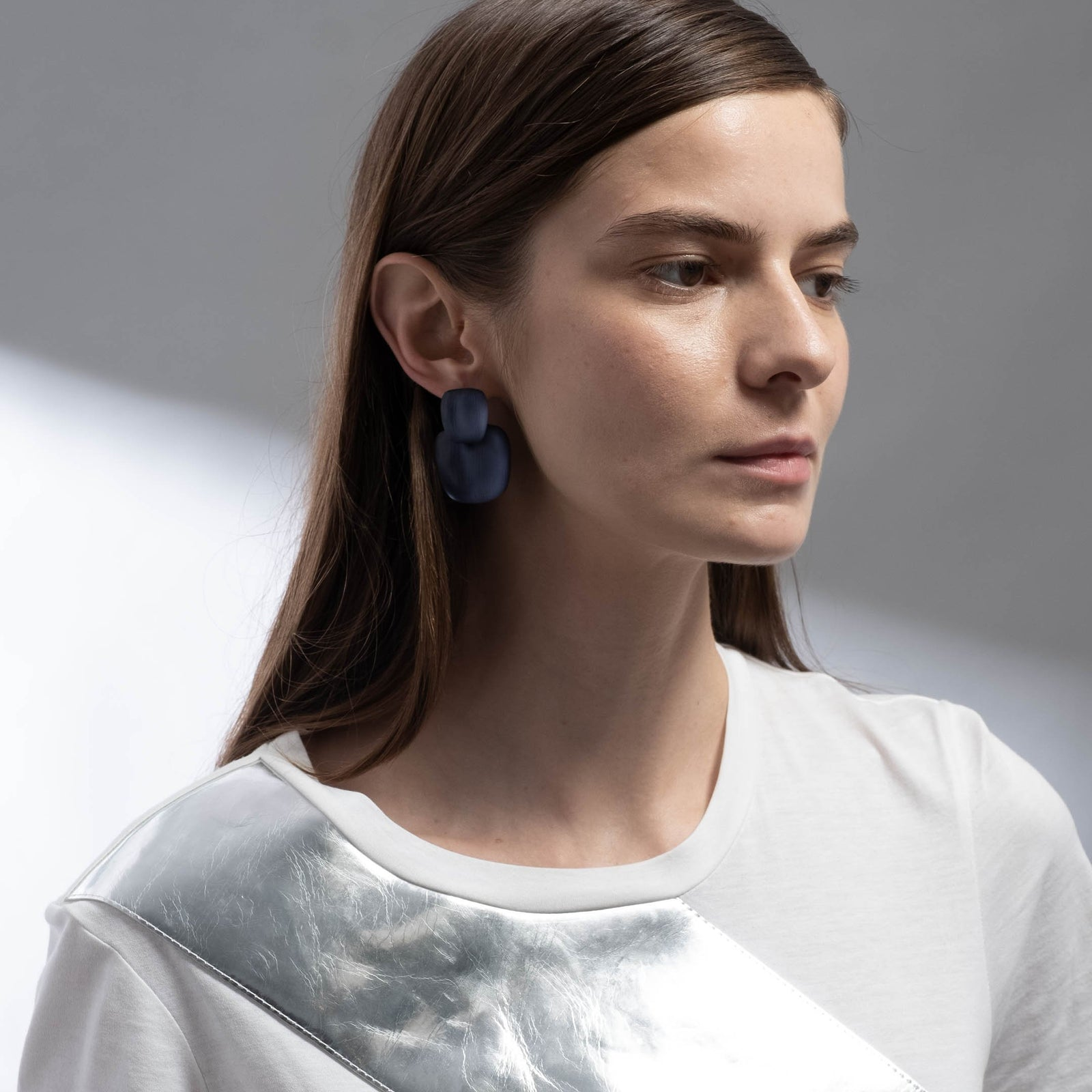 Chunky Layered Soft Square Post Earring