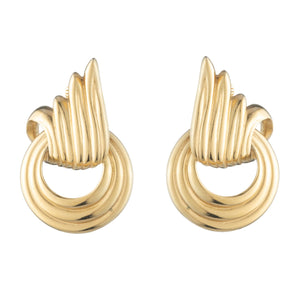 Vintage Givenchy Flourish Clip On Earrings