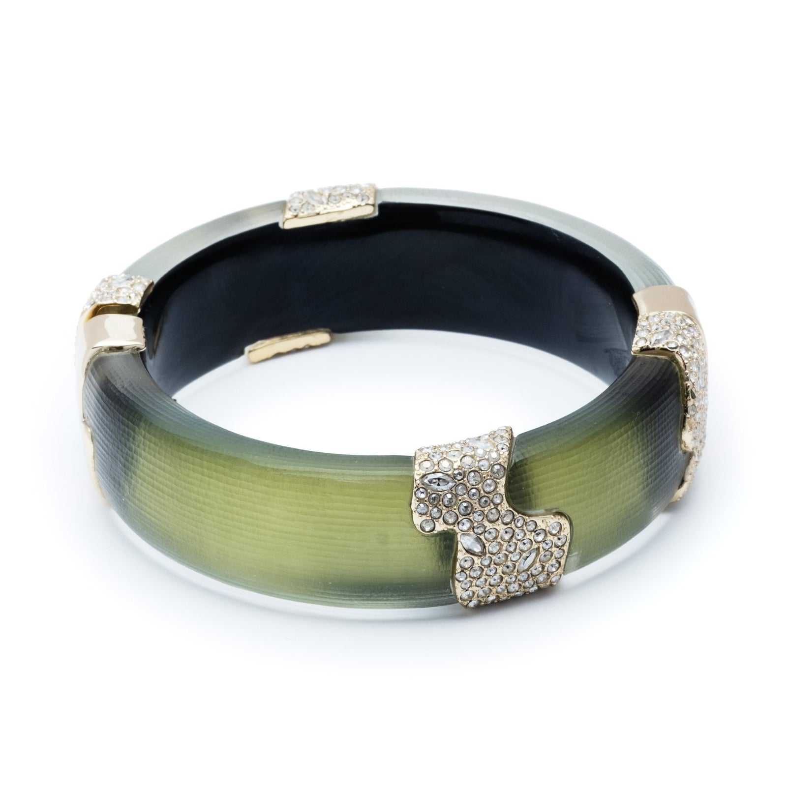 Crystal Encrusted Sectioned Hinge Bracelet