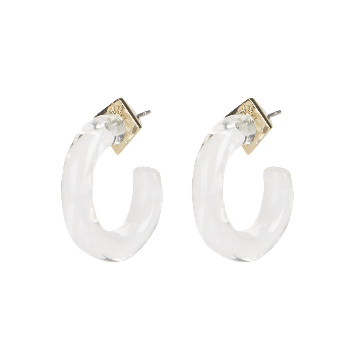 Small Clear Hoop Earring