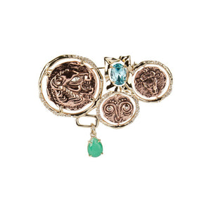 Ancient Coin Brooch