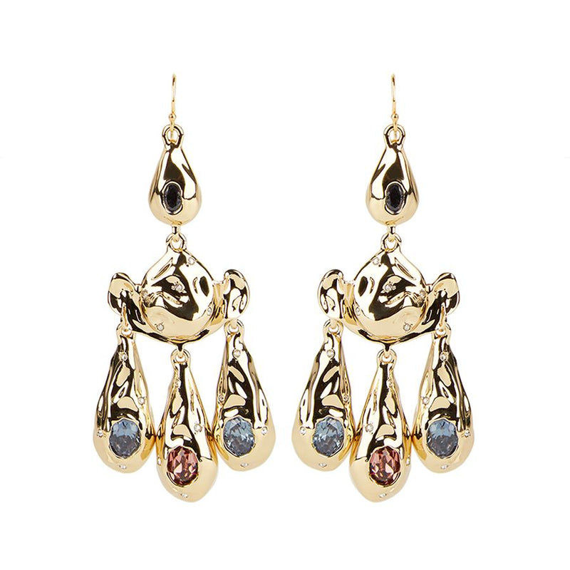 Crumpled Chandelier Earring