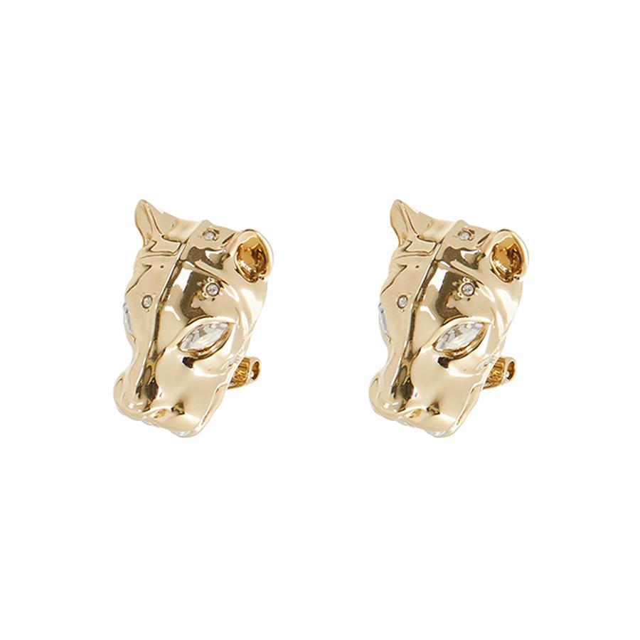 Panther Head Leverback Post Earring