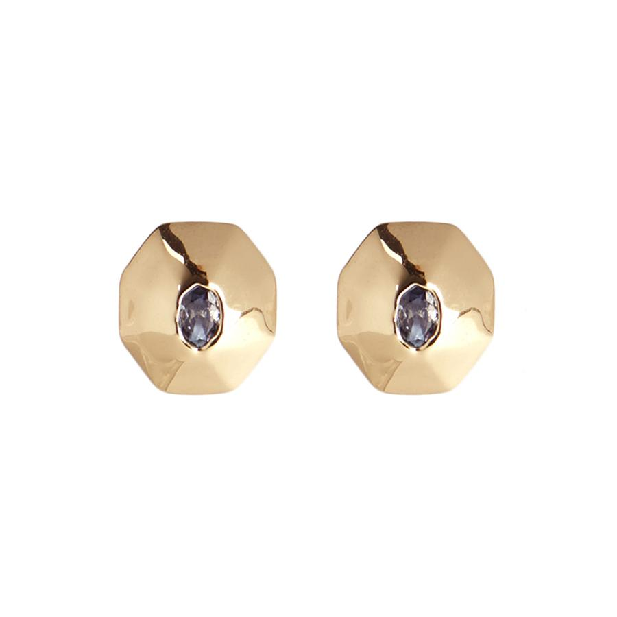 Soft Octagon Stud Earring