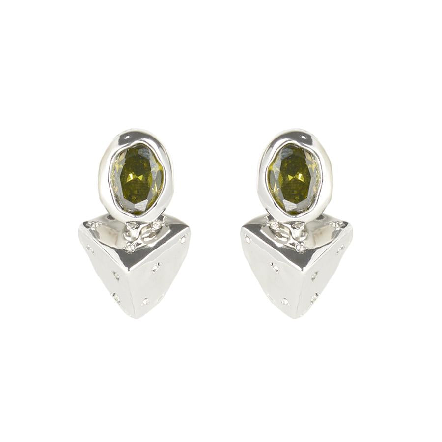 Pyramid Relic Post Earring