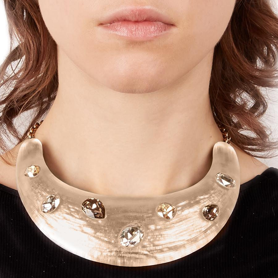 Limited Edition Crystal Studded Bib Necklace