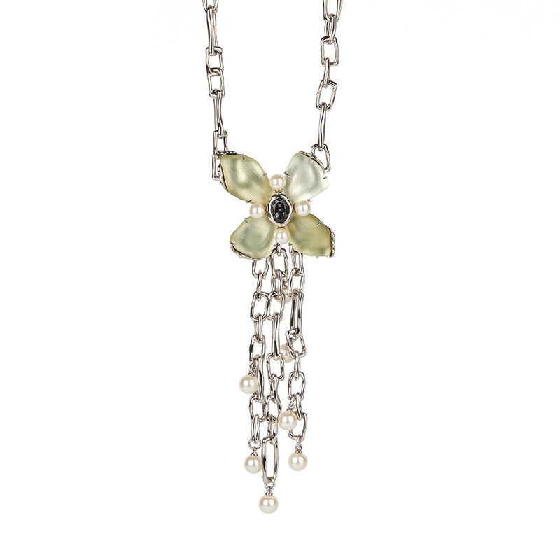 Byzantine Flower Chain Link Necklace