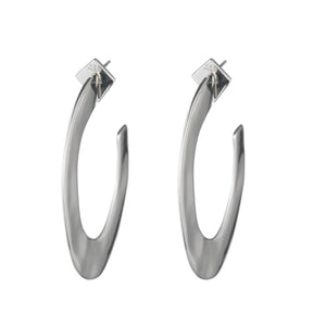 Liquid Metal Hoop Earring