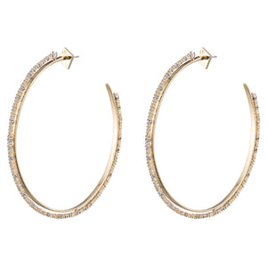 Oversized Crystal Lace Orbiting Hoop Earring