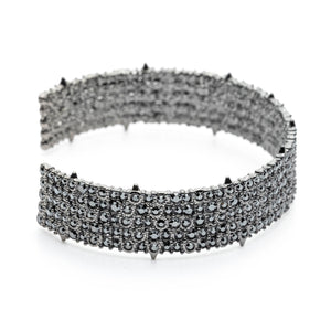 Crystal Lace Small Cuff Bracelet