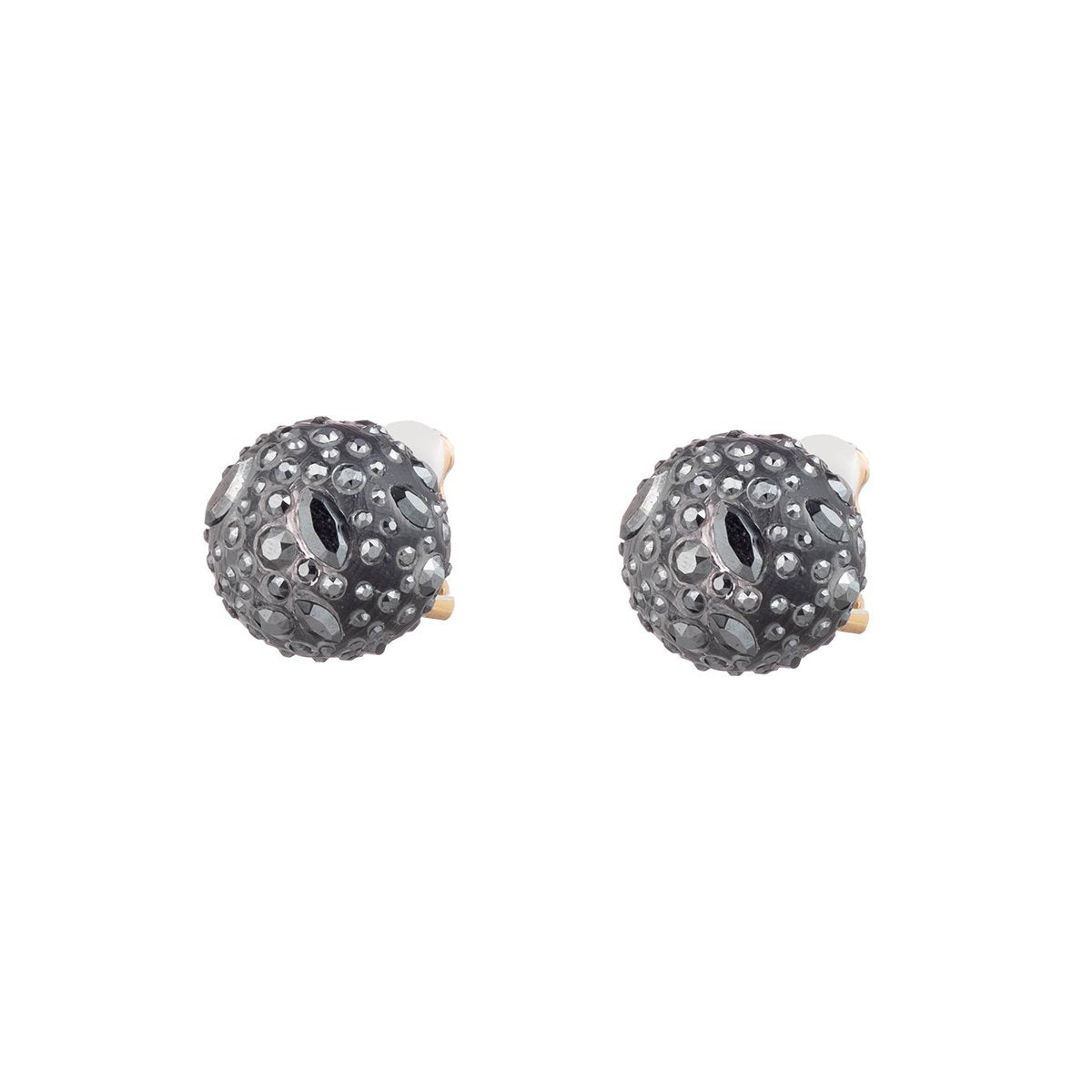 Noir Dust Watery Sphere Clip Earring