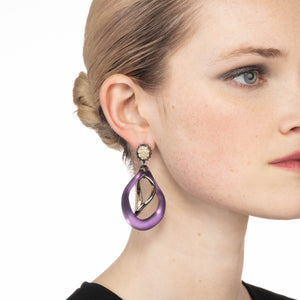 Two Tone Wavy Post Earring