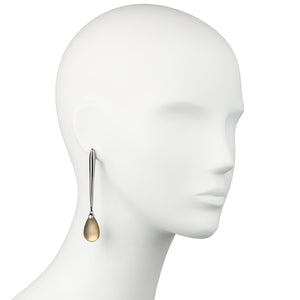 Linear Tear Drop Post Earring