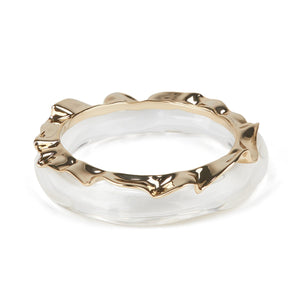 Crumpled Metal Bracelet Bangle Set