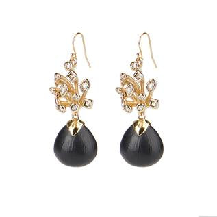 Crystal Burst Wire Drop Earring