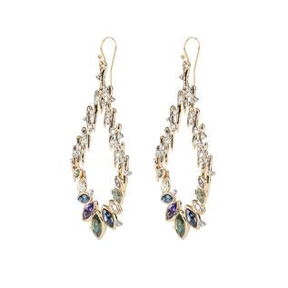 Navette Crystal Spiked Wire Earring