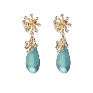 Crystal Burst Post Drop Earring