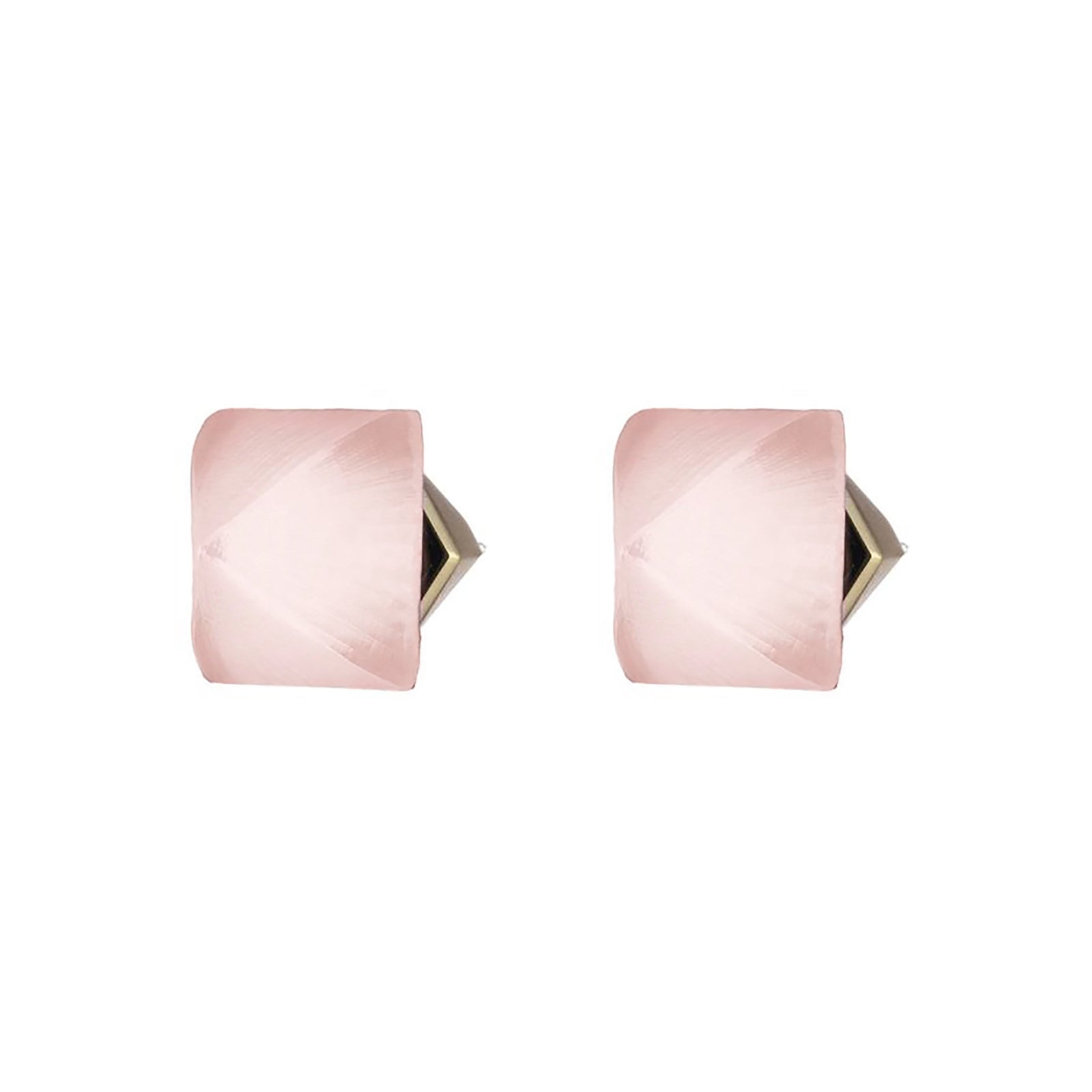 Pyramid Post Lucite Earring