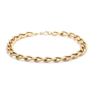 Antique 14k Gold Textured Link Bracelet