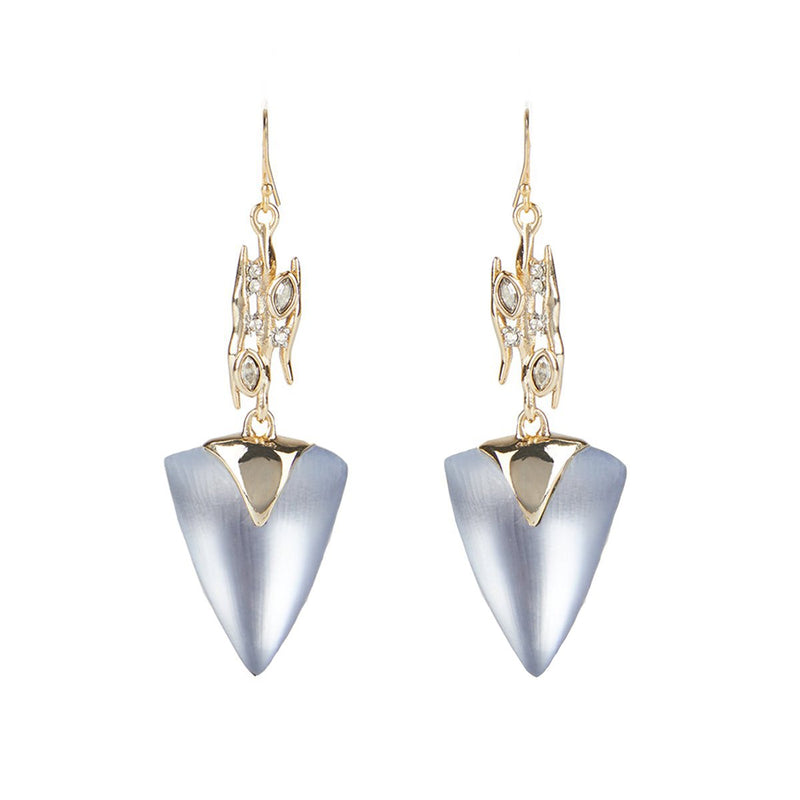 Navette Spiked Triangle Drop Wire Earring