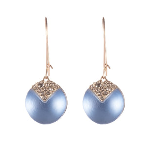 Origami Inlay Dangling Sphere Earring